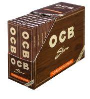 OCB Unbleached Slim Virgin Zigarettenpapier + Tips (32 x 32 Stück)