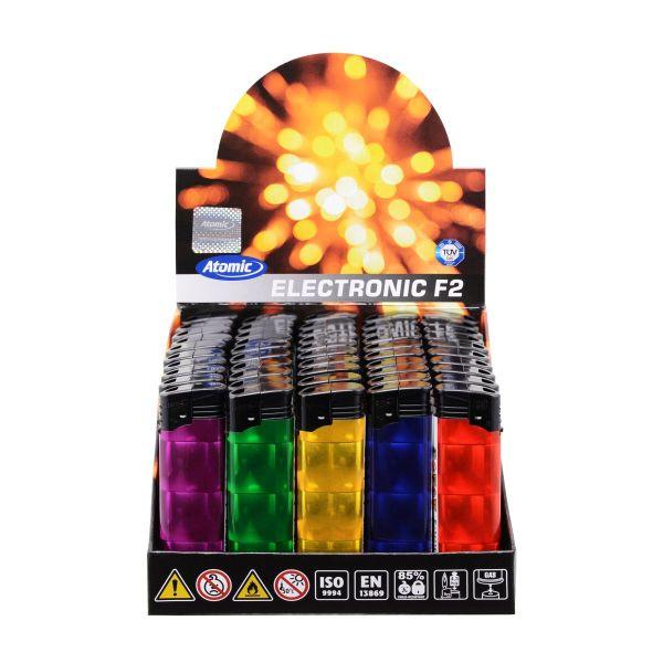 Feuerzeuge Atomic Elektronik F2 Motiv/Design Holografie (50 x 1 Stk.)
