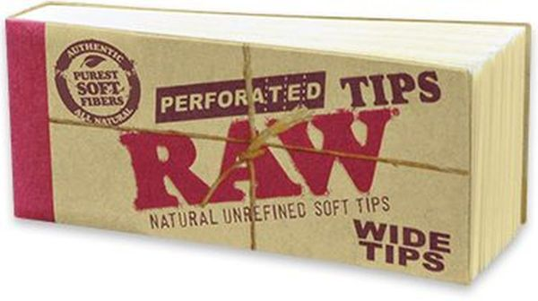 RAW Wide Perforated Tips (50 x 50 Stück)
