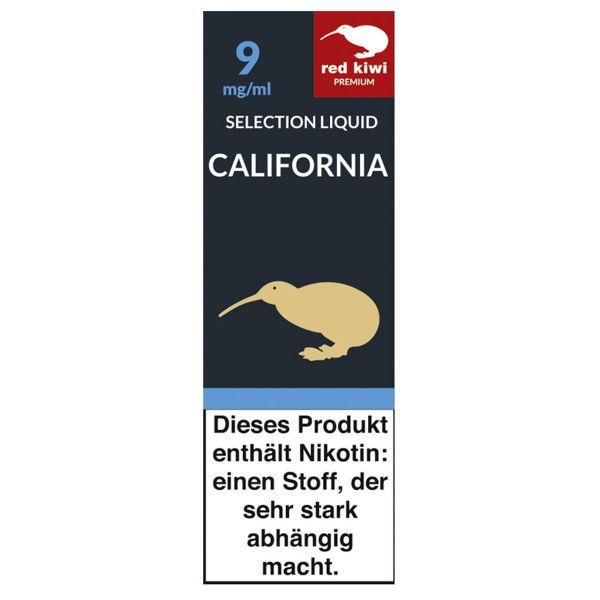 Red Kiwi eLiquid Selection California 9mg Nikotin/ml (10 ml)