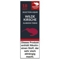 Red Kiwi eLiquid Selection Wilde Kirsche Alabama Tabak.18mg Nikot (10 ml)