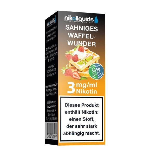 NikoLiquids Sahniges Waffelwunder eLiquid 3mg Nikotin/ml (10 ml)