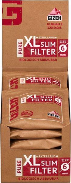 Gizeh Pure XL Slim Filter (10 x 120 Stück)