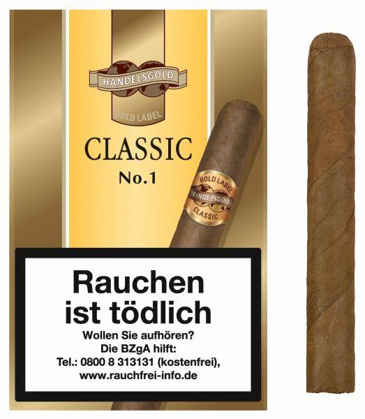 Handelsgold Zigarren 460 Gold Label Classic No.1 (Schachtel á 5 Stück)