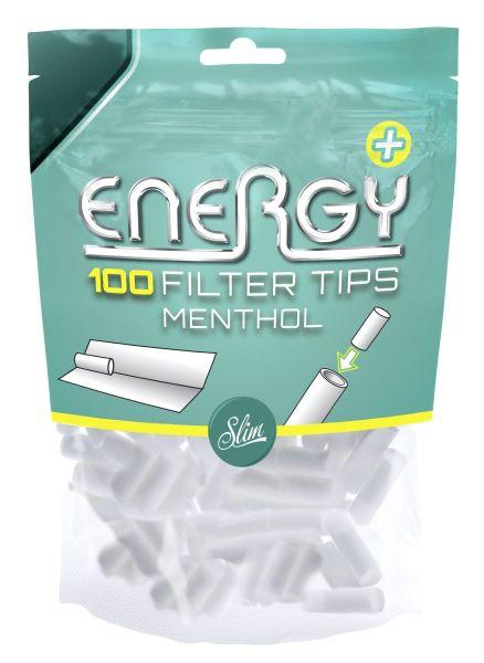 Energy Menthol Filter Tips (10 x 100 Stück)