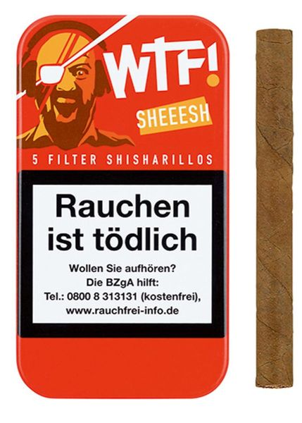 WTF! Zigarillos Shisharillo SHEEESH (Schachtel á 5 Stück)
