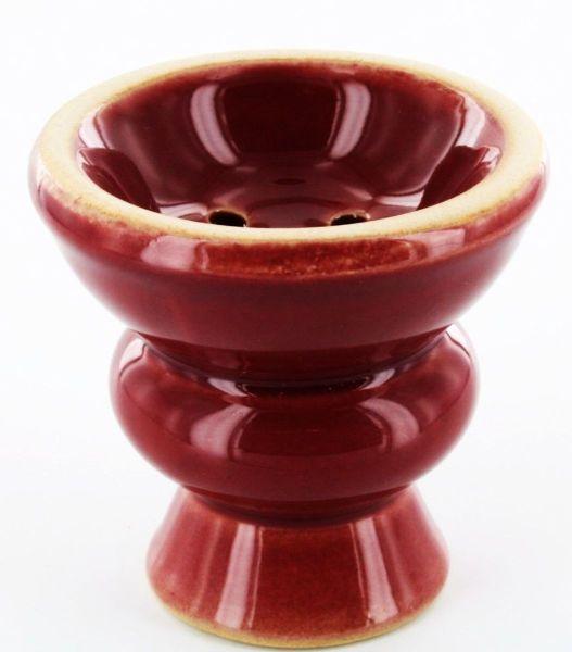 Glasierter Tabaktopf aus Keramik für Wasser Rot ( á 1 Stück)