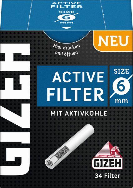 Gizeh Black Active Filter 6mm (10 x 34 Stück)