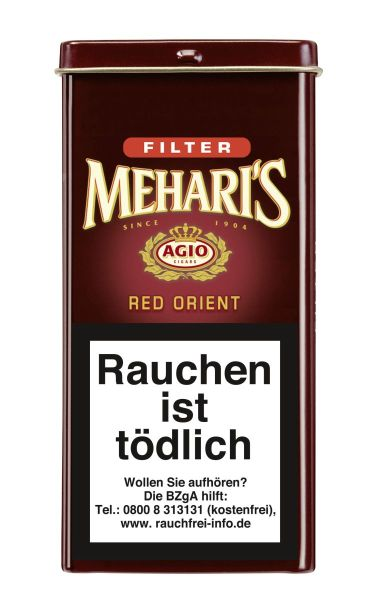 Meharis Zigarillos Agio Red Orient Filter (Schachtel á 5 Stück)